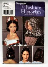 Simplicity Sewing Pattern 5740 The Fashion Historian Martha McCain Hats Uncut