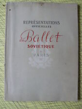 1954 REPRESENTATIONS OFFICIELLES DU BALLET SOVIETIQUE A PARIS RUSSE DANSE PHOTOS