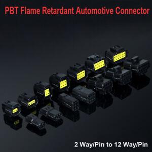 2-12 Way Car Connector Plug Kits 1.8 Sheath Terminal Flame Retardant Waterproof