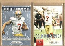 Colin Kaepernick-2 Card Lot-1 2015 Prestige +1 2013 PRIZM Brilliance Insert-Mint