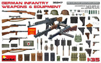 Miniart 35247 German Infantry Weapons & Equipmens WWII 1/35 Scale Plastic Model