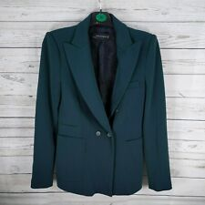 Zara ladies Dark Green Emerald Blazer Size Small Smart suit jacket wool blend