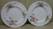 "2X Royal Doulton ""Arcadia"" Set 2 Bread / Butter Plates Flowers Scalloped Border"