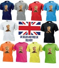 Baby Groot Guardians Of The Galaxy Superhero Boy Girl Birthday Kids T shirt 893
