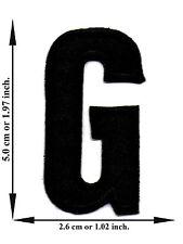 """ G "" Black Alphabet Letter English Language Applique Iron on Patch Sew For Hat"