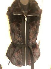 M60 Miss 60 Faux Fur Vest Zipped  Sz S