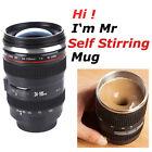 Camera Lens 24-105mm Self-Stirring Coffee Tea Travel Thermos Stainless Cup Mug