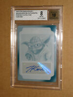 ✨❤️ 2016 STAR WARS ROGUE ONE MOVIE TOM KANE YODA SIGNED AUTO AUTOGRAPH PLATE 1/1