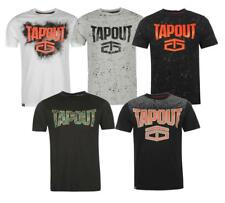 Hombre tapout Logo Algodón Redondo Camiseta Talla M L Mma UFC Ultimate Fighting