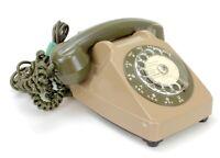 Ancien Téléphone fixe vintage à cadran Socotel 1981 (Réf#E-214)