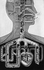 Framed Print - Fritz Kahn Machine Man Respiratory System (Picture Poster Art)
