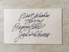 Jake Lamotta The Raging Bull inscribed 3x5 card