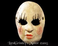 Female Worry Doll Serial Killer Half Mask Halloween Horror Monster Face