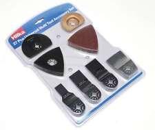 27pc Multi Function Tool Set Cutting Saw Scraper Sanding Plate Discs Hook & Loop