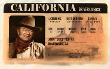 John Wayne Drivers License Novelty ID Card Duke Cowboy Western California CA