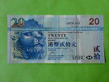 Hong Kong $20 HSBC Bank 2007 (UNC), Price for 1 Piece