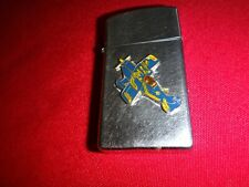 Year 1976 Zippo Slim Lighter With A USAF Fighter Jet Air Bomber Emblem