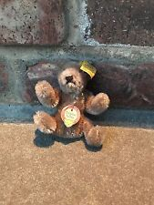 Vintage Steiff Stuffed Animal Bear Original Teddy With Bendable Parts & Tag 3""