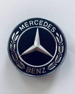 Flat Bonnet Star Badge Black for Merc A W176 Cla W117 Gla X156 Cls W218 SLK R172