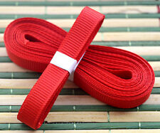 "Red 5yds 3/8"" (10 mm)Solid Grosgrain Ribbon Hair Bows Ribbion"