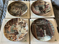 #1,2,3,& 4 in Series A CHRISTMAS CAROL 1991 92 93 & 94 Dept 56 collector plates