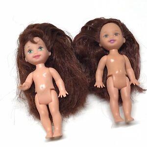 Nude OOAK Kelly Barbie Dolls Mattel Lot, Red Hair, 2 Pieces