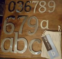 Burgon & Ball Stainless Steel House/Door Numbers With Concealed Fixings