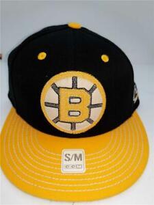 New Boston Bruins Original Six Mens Size S/M Flatbrim Fitmax70 Adidas CCM Hat