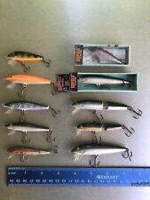 Lot Of 10 Floating Rapala Rainbow Shad Silver Orange Original!!
