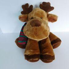 "Russ Balsam Reindeer Plush Moose Stuffed Animal 33635 Red & Green Scarf Soft 15"""