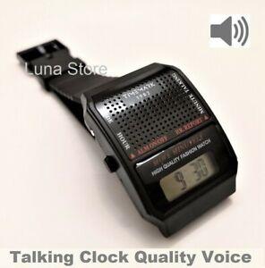 Reloj Digital Parlante - Voz En Español - Discapacidad Visual - Calidad De Voz