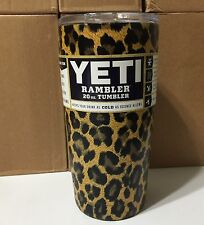 Cheetah Print Stainless Steel Tumbler Yeti, RTIC 20 Oz. Cup, Free Shipping