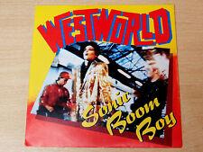 """EX/EX !! Westworld/Sonic Boom Boy/1987 RCA 7"""" Single"""