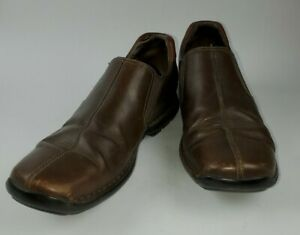 Cole Haan Mens C07486 Brown Solid Leather Slip On Loafers Size 10.5 M