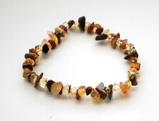 CITRINE & TIGER EYE HEALING CRYSTAL CHIP BEAD BRACELET - WEALTH & CONFIDENCE