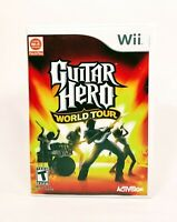GUITAR HERO WORLD TOUR (2008) Wii [COMPLETE] Good & Tested *FREE SHIPPING*