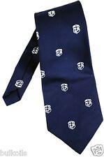 Vtg. EUC Tootal Men's Neck Tie Cross Anchor Badge Maritime Boat Navy Blue 52''