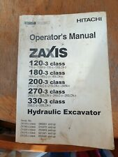 Hitachi Zaxis 120-3/180-3/200-3/270-3/330-3 Operator's Manual