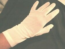 "VINTAGE WHITE NET GLOVES 10"" LONG SIZE MEDIUM EXCELLENT CONDITION!"