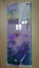 Schweiz / Switzerland 1000 Franken Bankfrisch Tausend Schweizer Franken Banknote