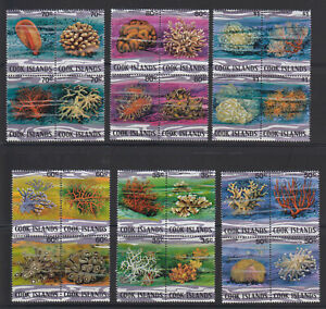 Cook Islands 1984, corals, marine life, complete set, very rare! MNH