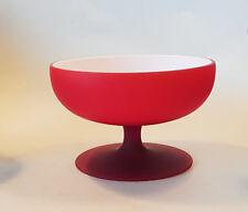 Carlo Moretti Satinato Glas SCHALE 60er 70er Jahre Design Murano Italy  ROT glas