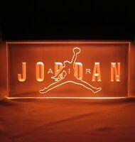 NIKE AIR JORDAN Light Sign 3D Engraving Acrylic Plastic Store Display 15 x 9 x 2