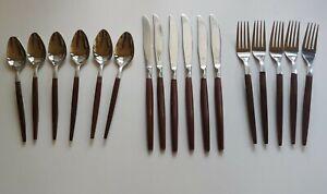 Ekco Eterna Canoe Muffin Vintage Flatware 17 Pcs lot Knives, Forks, Spoons Ex!