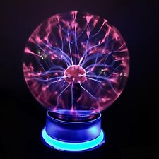 "New Magical Plasma Ball Neon Ring 5"" Diameter Sound Activated With Power Adapter"