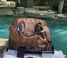 cb46c93ced5c5 Prada Nudo Nero Vernice Sfumata Large Bauletto Bag