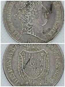 1818 Italy, Naples & Sicily, King Ferdinand I, Silver 120 Grani (Silver Coin)