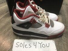 Nike Air Jordan IV 4 Retro 2012Black White Gym Red Fire Red 408452-110 Size 6.5Y