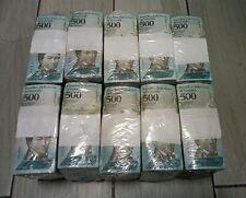 2017 Venezuela 500 Bolivares 10 BRICKS 10,000 Pcs. F, VF, XF USED 100 Packs!!