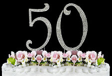 NEW Large Rhinestone  NUMBER (50) Cake Topper 50th Birthday Party Anniversary